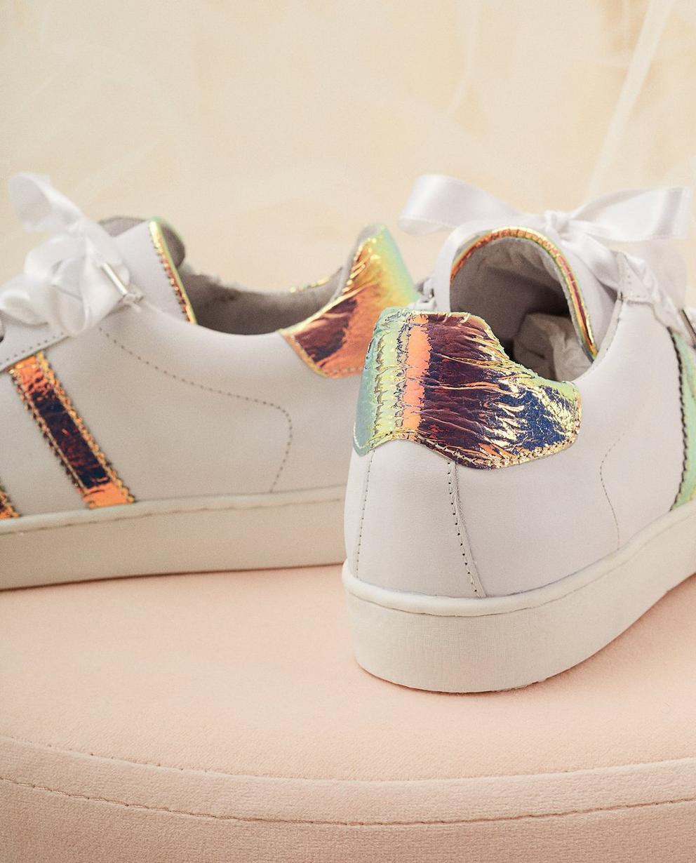 Schuhe - Weiss - Sneaker aus Leder